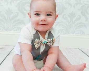 Vest and Bow tie Bodysuit with NEW Christmas option!