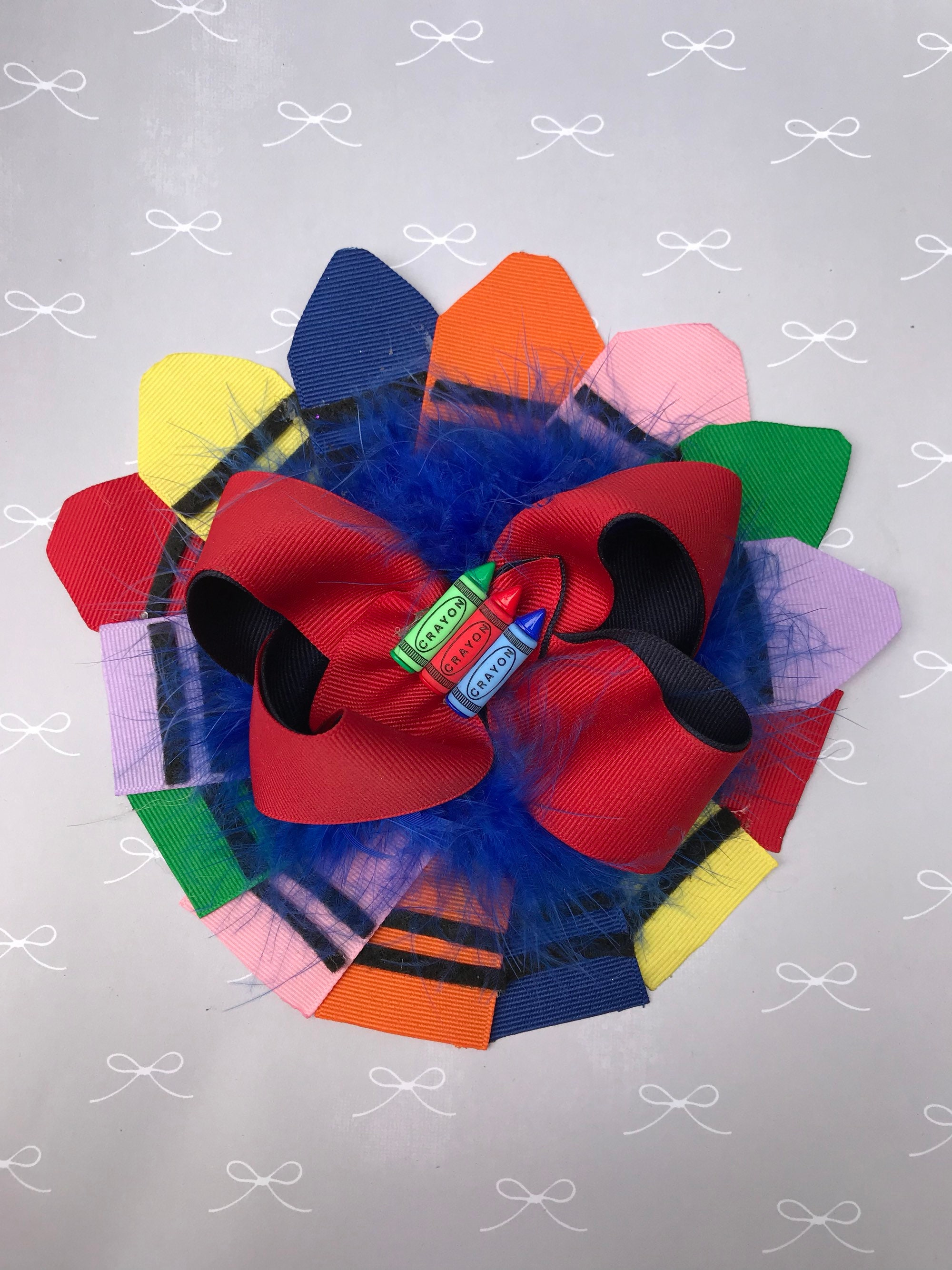 Back to School Crayon Hair Bow