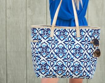 Personalized Sea Glass Tote | Hayden Tote | Teacher Gift | Realtor Gift | Bingo Bag | Brides Maid Bag