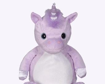 Big Sister Stuffed Unicorn | Flower Girl | Personalized Purple Unicorn | Baby Shower Gift | Birthday Gift | Adoption Day Gift