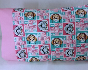 TODDLER/TRAVEL Size Personalized Pillow Case made with Skye and Everest Best Pups Ever Fabric | Daycare Pillow | Preschool Pillow