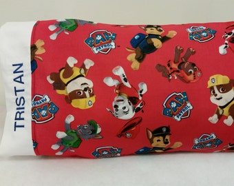 STANDARD Personalized Pillow Case made with Paw Patrol fabric