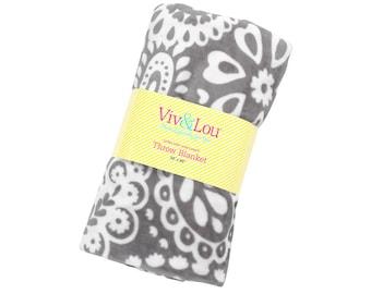 Personalized Plush Blanket | Monogrammed Blanket | Parker Paisley | Personalized Blanket | Tween Gift