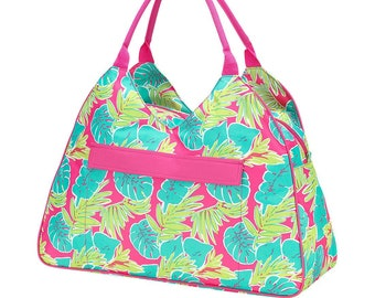 Personalized Beach Bag | Totally Tropics Beach Bag | Large Beach Bag | Bridesmaid Gift | Graduation Gift