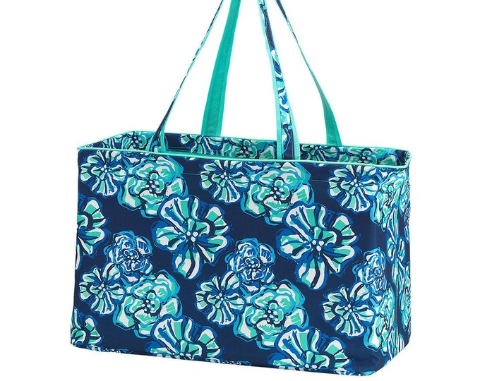 Featured listing image: Personalized Ultimate Utility Tote | Trunk Organizer | Reusable Grocery Bag | Maid of Honor | Retirement Gift | Teacher Organizer Bag