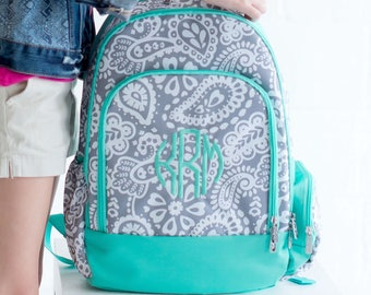 Personalized Backpack | Parker Paisley Backpack | Girls Backpack | School Backpack | Monogrammed Book bag | Backpack for Girl
