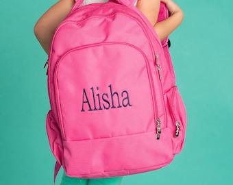 Monogrammed Backpack | Hot Pink Backpack | Personalized Backpack | Backpack for Girl