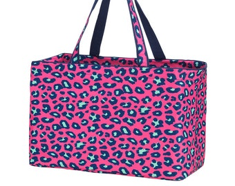 Personalized Ultimate Utility Tote | Trunk Organizer | Reusable Grocery Bag | Home Organization | Retirement Gift | Teacher Organizer Bag