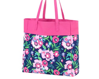 Personalized Posie Tote Bag   Bridesmaid   Teachers Gift   Realtor Gift   Maid of Honor   Mothers Day   Shopping Tote