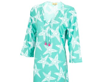 Personalized Woman's Tunic | Sea Star Woman's Tunic | Beach Cover up | Size Small Medium Large XL XXL | Bachelorette Party