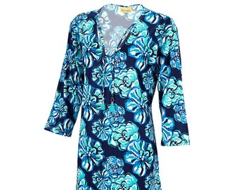Personalized Woman's Tunic | Maliblue Woman's Tunic | Beach Cover up | Size Small Medium Large XL XXL | Bachelorette Party