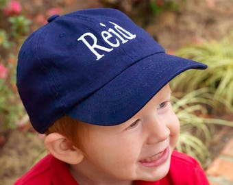 Monogrammed Kids Caps | Ball Game Cap | Game Day Hat | Beach Hat | Sun Hat