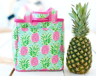 Personalized Beach Cooler | Sweet Paradise Pineapple Cooler Bag | Large Cooler Bag | Bridesmaid Gift | Graduation Gift | Realtor Gift