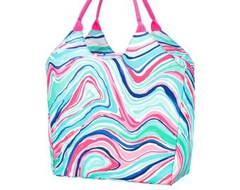 Personalized Beach Bag | Marble Beach Bag | Large Beach Bag | Bridesmaid Gift | Graduation Gift
