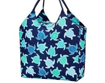 Personalized Beach Bag | Myrtle Turtle Beach Bag | Large Beach Bag | Bridesmaid Gift | Graduation Gift