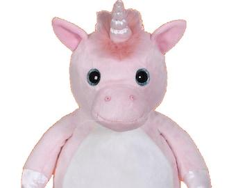 Big Sister Stuffed Unicorn | Flower Girl | Personalized Pink Unicorn | Baby Shower Gift | Birthday Gift | Adoption Day Gift