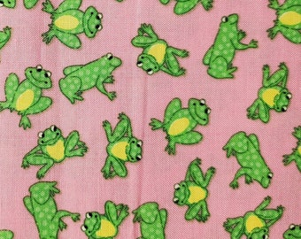 Frogs Cotton Fabric 35 inches End of Bolt | 100% Cotton | Fabric for Mask