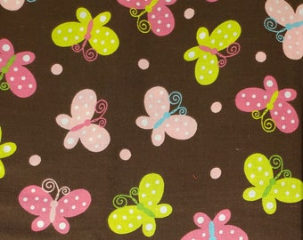Cotton Fabric | 100% Cotton | Butterflies Fabric| Fabric for Mask
