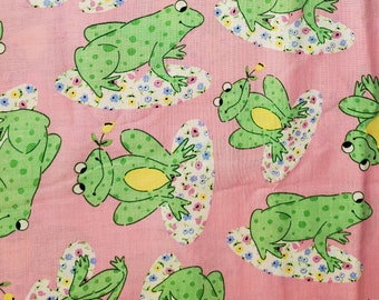 Frogs Cotton Fabric | 100% Cotton | Fabric for Mask