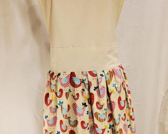 Ladies Reversible Apron | One Size | Birds | Cocoa