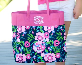 Personalized Posie Tote Bag | Bridesmaid | Teachers Gift | Realtor Gift | Maid of Honor | Mothers Day | Shopping Tote