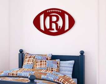 Football Wood Monogram | Graduation Gift | Home Decor | Housewarming | Coworker Gift | Teacher Gift | Gift for Boss | Dorm Decor