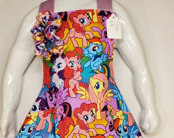 Child's Apron | Toddler Girls Apron | Size 3-4 | Made with My Little Pony Fabric