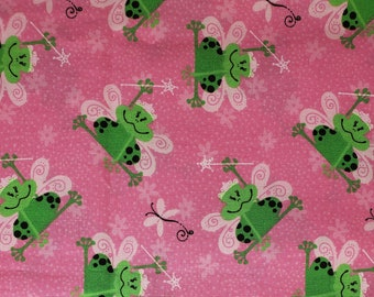 Frogs Cotton Fabric | 100% Cotton | Frogs | Fabric for Mask