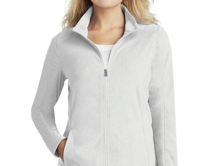 Featured listing image: Monogrammed Ladies Microfleece Jacket | Personalized Jacket | Fall Jacket