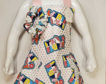 Child's Apron | Girls Apron Unicorn | Size 5 - 6 | Made with Despicable Me Fabric | It's so Fluffy