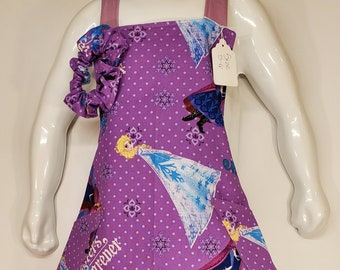 Child's Apron | Girls Apron | Size 5 - 6 | Made with Frozen Sisters Fabric | Elsa | Ana