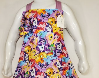 Child's Apron | Girls Apron | Size 5 - 6 | Made with My Little Pony Fabric