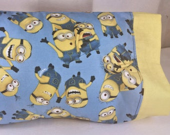 TODDLER / TRAVEL Personalized Pillow Case made with Minion Fabric - Despicable Me | Daycare Pillow | Preschool Pillow
