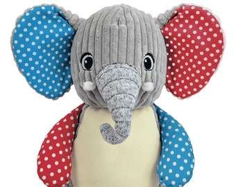 Personalized Stuffed Animal | Valentine Gift | Big Brother | Ring Bearer Gift | Personalized Elephant | Baby Shower Gift | Adoption Day Gift