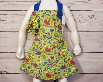 Child's Apron | Girls Apron | Size 5 - 6 | Princess