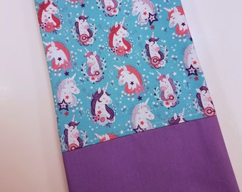 STANDARD Personalized Pillow Case made with Unicorn fabric