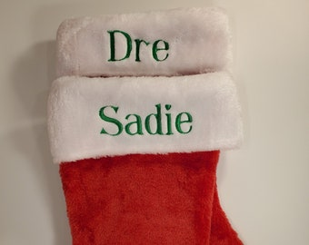 """16"""" Personalized Christmas Stocking   Office Christmas Stocking   Baby's First Christmas"""