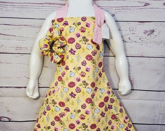 Child's Apron | Girls Apron | Size 7 - 8 | Floral