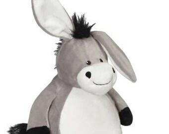 Big Brother Stuffed Donkey | Ring Bearer | Flower Girl | Baby Shower Gift | Birthday Gift | Adoption Day Gift