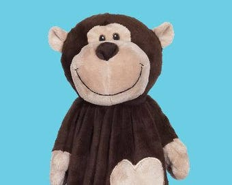 Monkey Lovey | New Baby Gift Idea | New Baby Gift Idea | Animal Blanket |  | Stocking Stuffer | Security Blanket | Adoption Day Gift