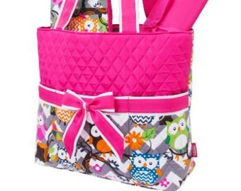 Personalized Diaper Bag | Pink Owl Diaper Bag | New Baby Gift | Baby Shower Gift | Dog Show Bag