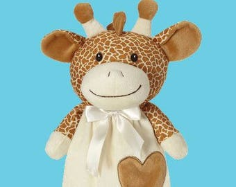 Personalized Giraffe Lovey | Valentine Gift | New Baby Gift Idea | Animal Blanket | Security Blanket | Adoption Day Gift