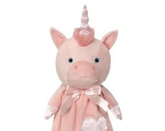 Unicorn Lovey | New Baby Gift Idea | Animal Blanket |  | Stocking Stuffer | Security Blanket | Adoption Day Gift