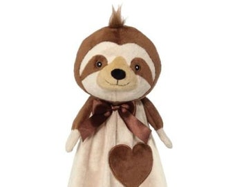 Sloth Lovey | New Baby Gift Idea | Animal Blanket |  | Stocking Stuffer | Security Blanket | Adoption Day Gift