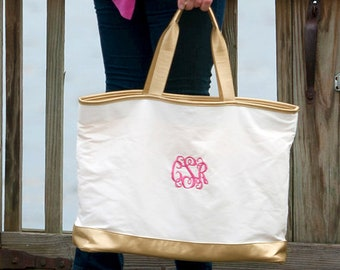 Personalized Cabana Tote Bag | Creme Cabana Tote | Winter Wedding | Bridesmaid | Teachers Gift | Vegan Leather | Cheerleader Tote