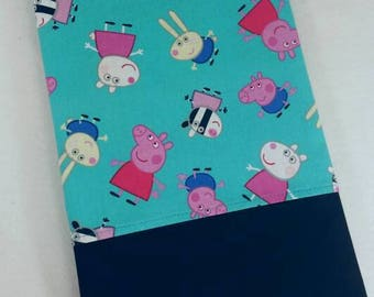 STANDARD Personalized Pillow Case made with Peppa Pig Fabric