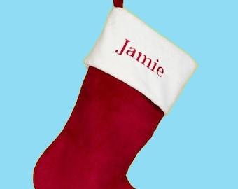 "19"" Monogrammed Christmas Stocking 