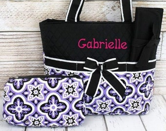 Personalized Diaper Bag | Floral Serenity Diaper Bag | Diaper Bag for Girl | New Baby Gift