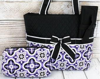 Personalized Diaper Bag   Monogrammed Diaper Bag   Floral Serenity Diaper Bag   Diaper Bag for Girl   New Baby Gift