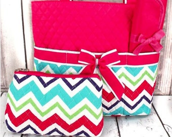 Personalized Diaper Bag | Personalized Diaper Bag | Pink Chevron Diaper Bag | New Baby Gift | Baby Shower Gift